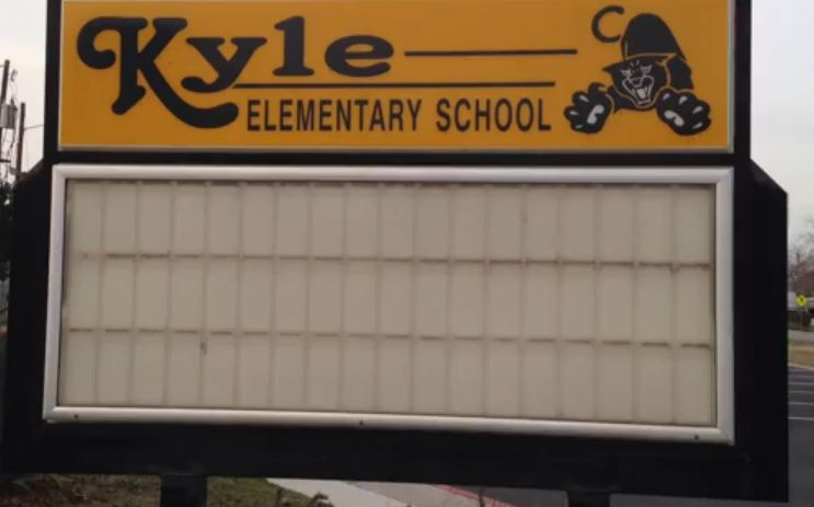 Kyle Elementary Sign