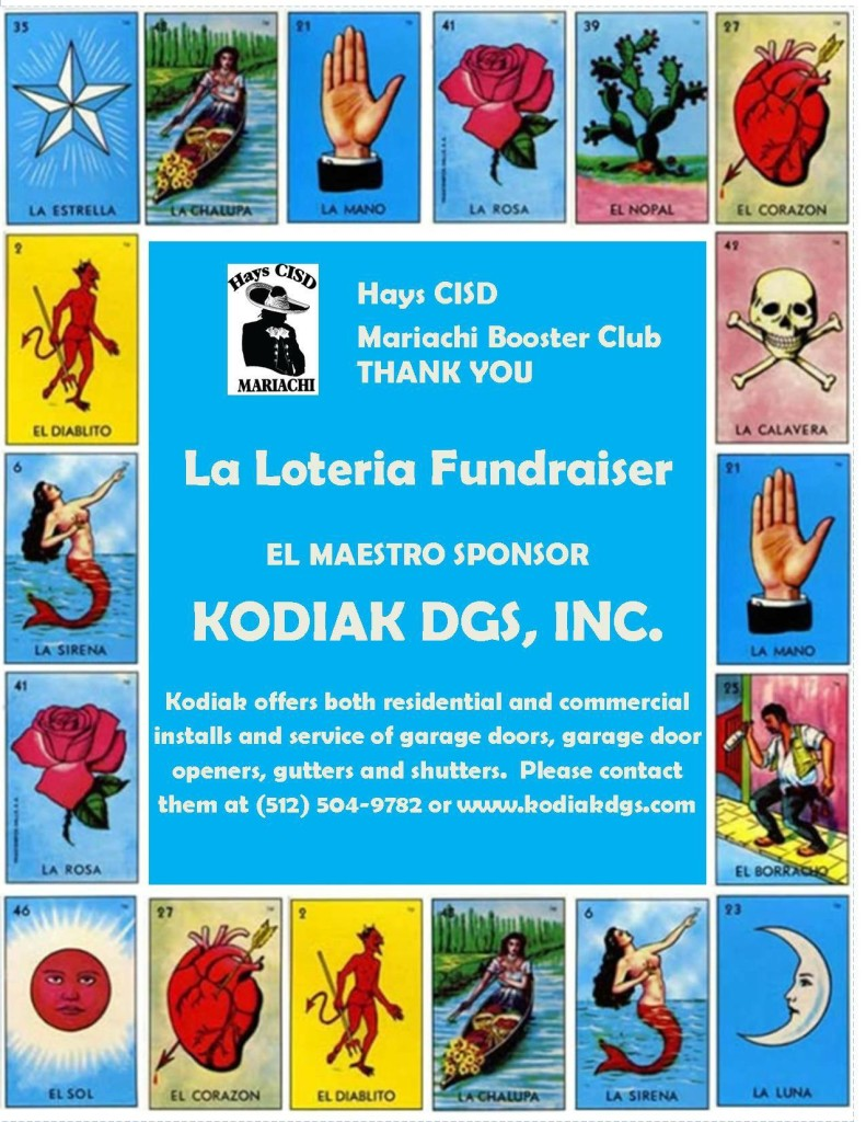 Loteria sponsor Kodiak DGS - Garage Doors